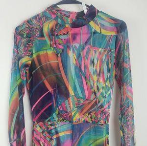 Auditions multi color jumpsuit size medium